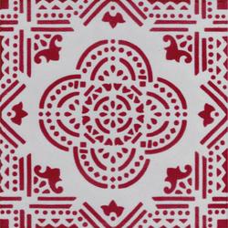 Madras Fondo bianco decoro rosso | Baldosas de suelo | La Riggiola