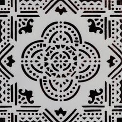 Madras Fondo bianco decoro manganese | Ceramic tiles | La Riggiola