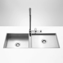 Kitchen sinks in brushed stainless-steel - Double sink | Kitchen sinks | Dornbracht