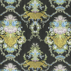 St. James's Fabrics | Savigny - Ebony | Curtain fabrics | Designers Guild