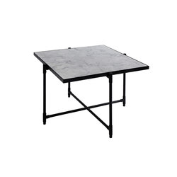 Coffee Table 60 BLACK on BLACK - White Marble | Lounge tables | HANDVÄRK