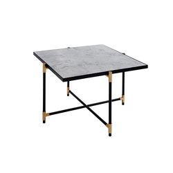 Coffee Table 60 BRASS on BLACK - White Marble | Lounge tables | HANDVÄRK