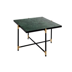 Coffee Table 60 BRASS on BLACK - Green Marble | Lounge tables | HANDVÄRK
