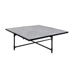 Coffee Table 90 BLACK on BLACK - White Marble | Lounge tables | HANDVÄRK