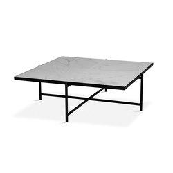 Coffee Table 90 Black - White Marble | Lounge tables | HANDVÄRK