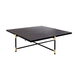 Coffee Table 90 BRASS on BLACK - Black Marble | Lounge tables | HANDVÄRK