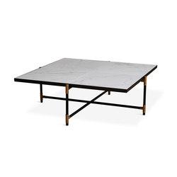 Coffee Table 90 Brass - White Marble | Lounge tables | HANDVÄRK