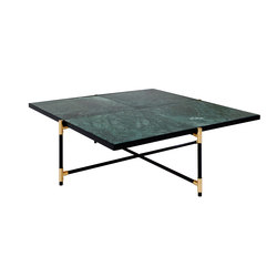 Coffee Table 90 BRASS on BLACK - Green Marble | Tables basses | HANDVÄRK