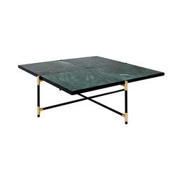 Coffee Table 90 BRASS on BLACK - Green Marble | Lounge tables | HANDVÄRK