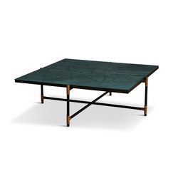 Coffee Table 90 Brass - Green Marble | Mesas de centro | HANDVÄRK
