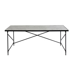 Dining tables-Desks-Tables-Desk BLACK on BLACK - White Marble-HANDVÄRK