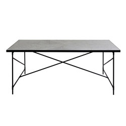 Dining Table 185 BLACK on BLACK - White Marble | Dining tables | HANDVÄRK