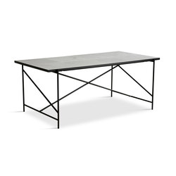 Dining Table 185 Black - White Marble | Esstische | HANDVÄRK
