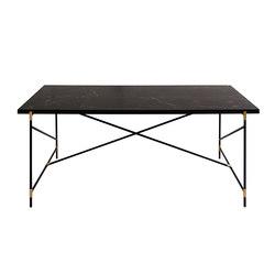Dining Table 185 BRASS on BLACK -  Black Marble   Dining tables   HANDVÄRK