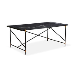Dining Table 185 Brass - Black Marble | Tables de repas | HANDVÄRK