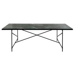 Dining Table 230 BLACK on BLACK - Green Marble   Dining tables   HANDVÄRK