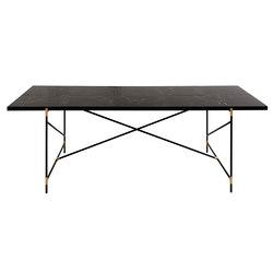 Dining Table 230 BRASS on BLACK - Black Marble | Tavoli da pranzo | HANDVÄRK
