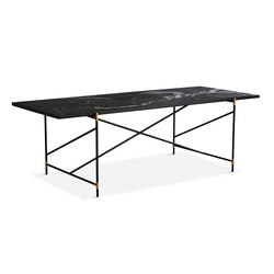 Dining Table 230 Brass - Black Marble | Dining tables | HANDVÄRK