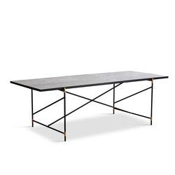 Dining Table 230 Brass - White Marble | Dining tables | HANDVÄRK