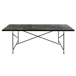 Dining Table 230 BRASS on BLACK - Green Marble | Tavoli da pranzo | HANDVÄRK
