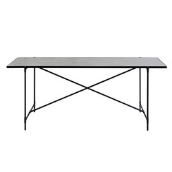 High Table BLACK on BLACK - White Marble | Konsoltische | HANDVÄRK