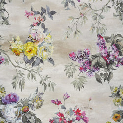 Caprifoglio Fabrics | Caprifoglio Grande - Ecru | Tissus pour rideaux | Designers Guild