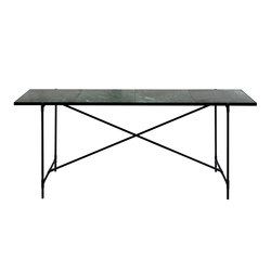 High Table BLACK on BLACK - Green Marble | Konsoltische | HANDVÄRK