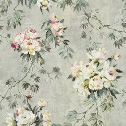 Caprifoglio Fabrics | Floreale Grande - Zinc | Curtain fabrics | Designers Guild