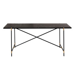 High Table BRASS on BLACK - Black Marble | Console tables | HANDVÄRK