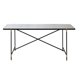 High Table BRASS on BLACK - White Marble | Tables consoles | HANDVÄRK