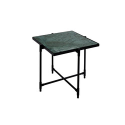 Side Table BLACK on BLACK - Green Marble | Nachttische | HANDVÄRK