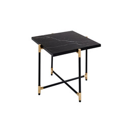 Side Table BRASS on BLACK - Black Marble | Night stands | HANDVÄRK