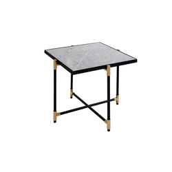 Side Table BRASS on BLACK - White Marble | Tables de chevet | HANDVÄRK