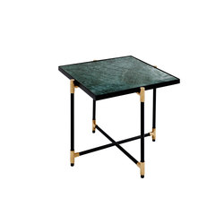 Side Table BRASS on BLACK - Green Marble | Tables de chevet | HANDVÄRK