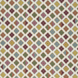 Carnets Andalous Fabrics | Alcazar - Multicolore | Curtain fabrics | Designers Guild