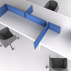 Multy acoustic panel H40 | Table dividers | Tecno
