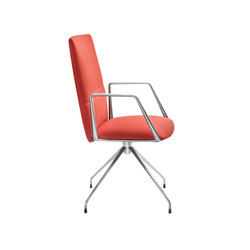 Vela Conference medium-backrest chair | Sillas de conferencia | Tecno