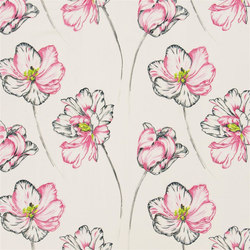 Kaori Fabrics | Montsuki - Fuchsia | Tissus pour rideaux | Designers Guild