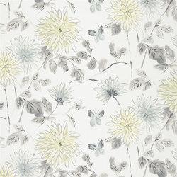 Kimono Blossom Fabrics | Amala - Pewter | Curtain fabrics | Designers Guild