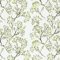 Kimono Blossom Fabrics | Magnolia Tree - Willow | Curtain fabrics | Designers Guild