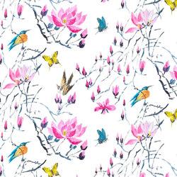 Kimono Blossom Fabrics | Madame Butterfly - Peony | Curtain fabrics | Designers Guild