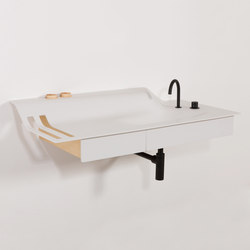 Private Space Washstand Wall | Vanity units | ellenbergerdesign