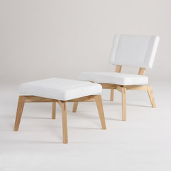 Private Space Easy Chair with Ottoman | Lounge chairs | ellenbergerdesign