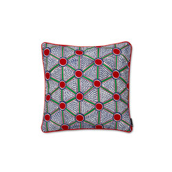 Embroidered Cushion Cells | Coussins | Hay