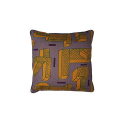 Printed Cushion In the grass ocre | Coussins | Hay