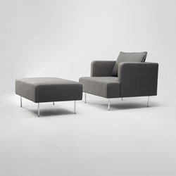 Levit Armchair and Ottoman | Armchairs | Comforty