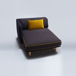 Palafitte Chaise Longue | Modular seating elements | Comforty