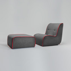Zulu Armchair and Ottoman | Lounge chairs | Comforty