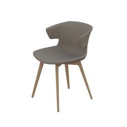 Cove solid wood base | Visitors chairs / Side chairs | Quadrifoglio Office Furniture