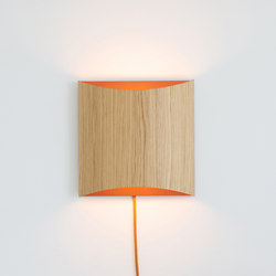 Sophie wall oak copper with cable | Lampade parete | lasfera